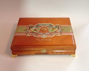 Cigar Box Jewelry Box Humidor Trinket Box Humidor Men's Gift Box My Father Garcia & Garcia La Opulencia Lacquered Wood Cigar Box