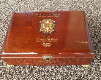 Cigar Box Jewelry Box Humidor Trinket Box Humidor Men's Gift Chateau de la Fuente Rare Estate Reserve Cigar Box