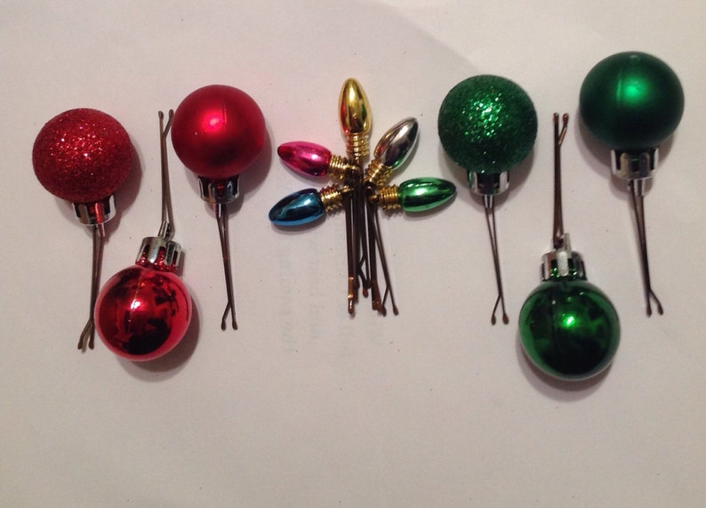 Beard Art Baubles Christmas Balls and Lights Hipster Gift Set of 11 Mini Baubles for the Beard