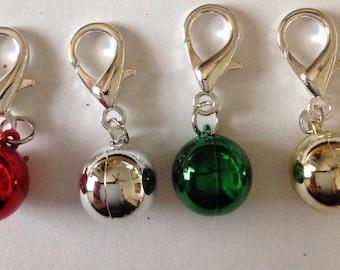 Beard Art Baubles Christmas  Ball Zipper Pull Key Chain Decoration Pendant Choice of Color Baubles Beard