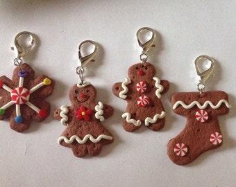 Beard Art Baubles Ginger Bread Figure of Choice Zipper Pull Key Chain Decoration Pendant