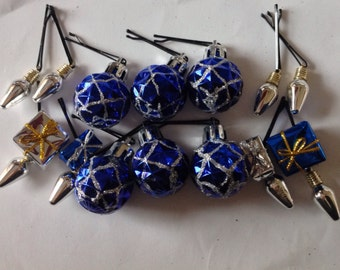 SALE Beard Art Baubles Hanukkah Hipster Gift Set Of 14 Baubles for the Beard Baubles for the Beard Bulbs Balls and Gift Boxes