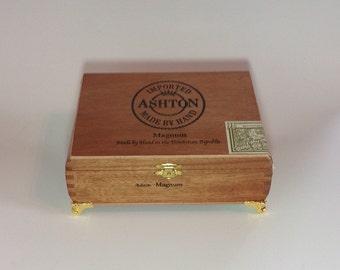 Cigar Box Jewelry Box Humidor Trinket Box Humidor Ashton Magnum Wood Cigar Box
