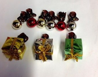 SALE Beard Art Baubles Christmas Classic Hipster Set 9 Baubles for the Beard Baubles for the Beard Claw Clips 15mm baubles and Gift Boxes