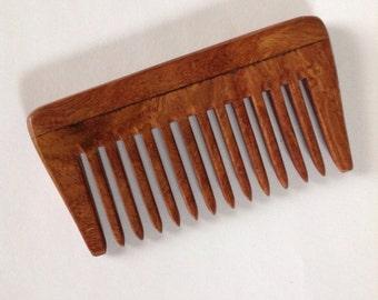 Beard Basics Rosewood Beard Comb Wide Tooth Antistatic Massaging Therapeutic