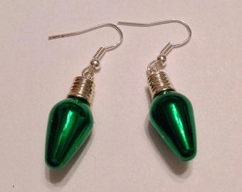 Lightbulb Earrings Christmas Ornament Earrings Christmas Bauble Earrings Christmas Earrings