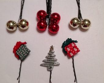 SALE Beard Art Baubles Christmas Beard for Beard Season Set of 11 Beard Ornaments