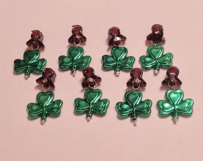 Featured listing image: Beard Art Baubles St Patrick's Day Shamrock Luck Irish Handmade Baubles Mini Clips