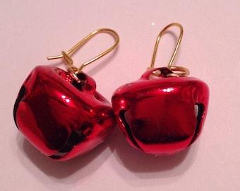 Christmas Ornament Earrings Christmas Bauble Earrings Christmas Earrings Jingle Bell Earrings Christmas Bell Earrings