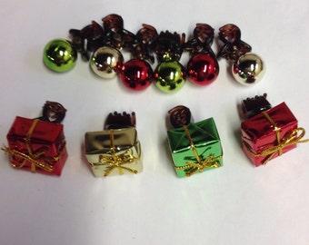 Beard Art Baubles Christmas Classic Hipster Gift 10 Set Baubles for the Beard Baubles for the Beard Claw Clips Beard Bauble Ornaments