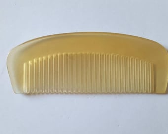 Oxhorn Beard Comb, Organic Horn Comb, Travel Comb, Pocket Comb, Horn Comb, Beard Basics