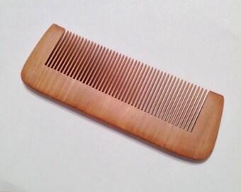 Organic RedWood Beard Comb Natural Antistatic Massaging Therapeutic Beard Basics