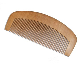 Organic Red Sandalwood Beard Comb Natural Aroma Antistatic Massaging Therapeutic UB's Beard Basics