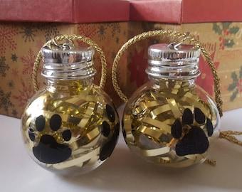 BoozeNaments Christmas Shot Glass Ornaments  Beard Basics PET Shatterproof Ornament