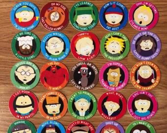 South Park Milkcaps Pogs Custom Made New Complete Set of 30 Pogs Rare Awesome