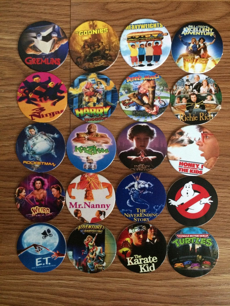 Family Movie Pogs Milkcaps Custom Made New Complete Set of 20 Pogs Rare Film