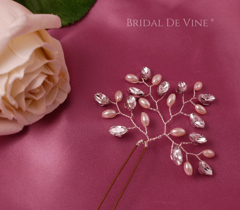 Bridesmaids Stunning Sparkly Pearl and Crystals Bridal Hair Pins Hair Up Hair Accessories