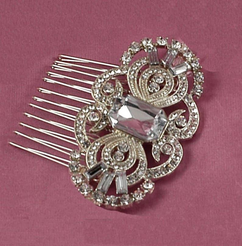 Diamante Comb, Bridal Sparkly Vintage Inspired Diamante Hair Comb Wedding Hair Comb