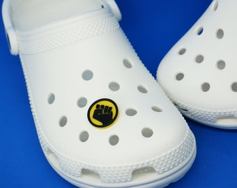 Black Lives Matter Fist Foam Shoe Charm - 3d printed - BLM
