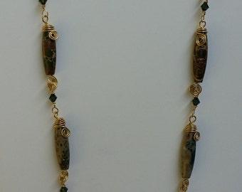 Snakeskin Jasper Necklace and Earrings
