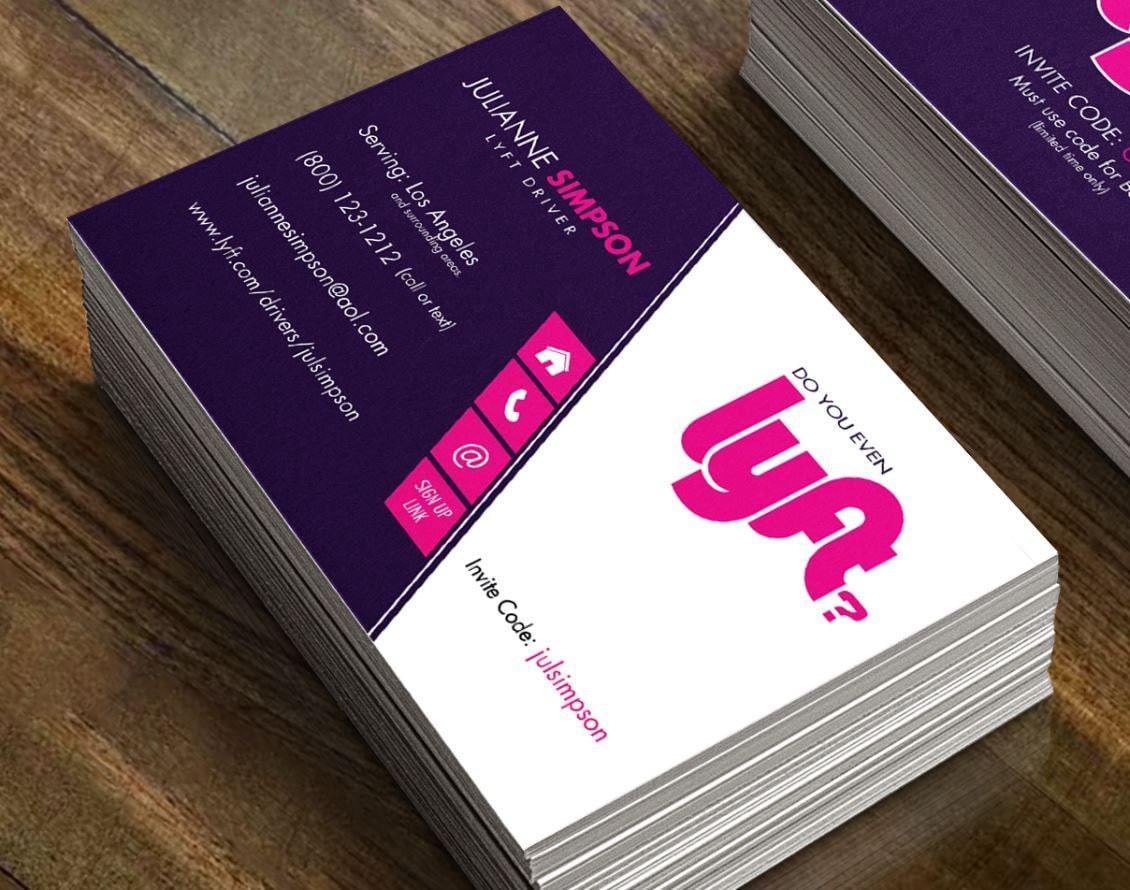 Do you even Lyft? Funny Lyft Driver Business cards - 16pt card stock Lyft  Referral cards