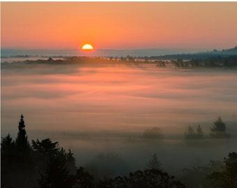 """Sunrise photo card - 5x7"""" frameable"""