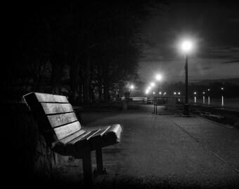 Night Park Bench Etsy