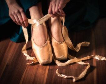 Ballet Slipper Ribbons: 8x10 fine art print.