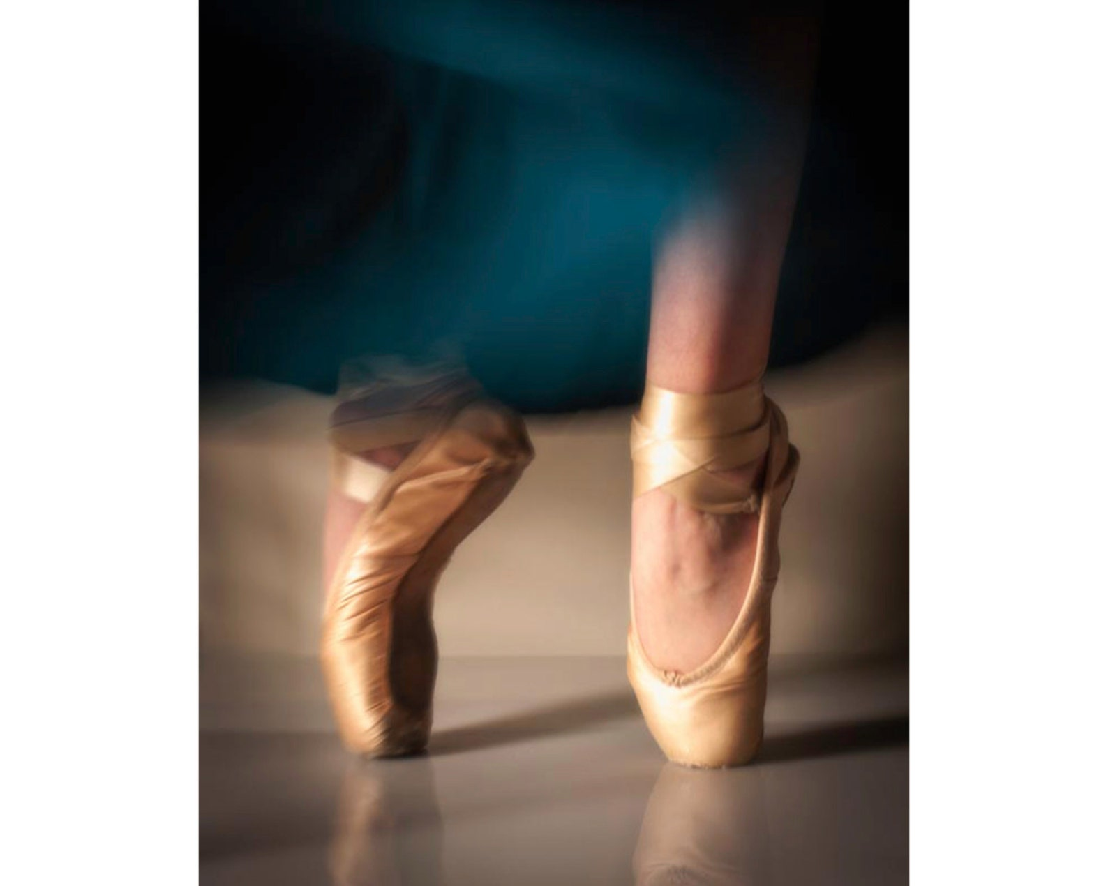 dancing ballet pointe shoes: 8x10 dance photography fine art print. available as a canvas, print or card.