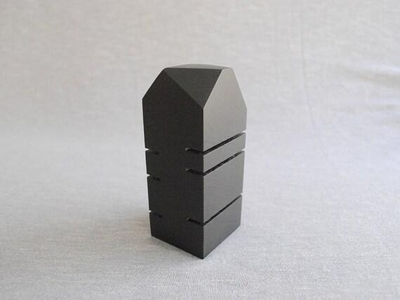 Sculpture en marbre noir papier ardoise noir poids affichage etsy