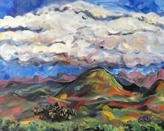 "Arizona Green, acrylic on canvas, 24"" x 30"""