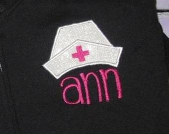 Nurse Hat Applique embroidery Design - nurse Applique Design - nursing Applique Design - nurses hat Applique Design