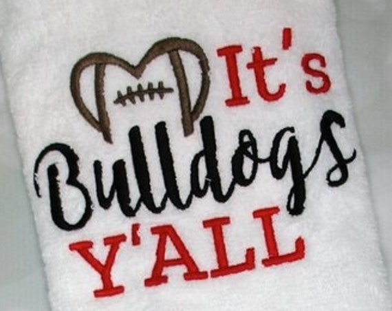 It's Bulldogs y'all football embroidery design - Bulldogs embroidery design - football embroidery design - mascot embroidery design - team