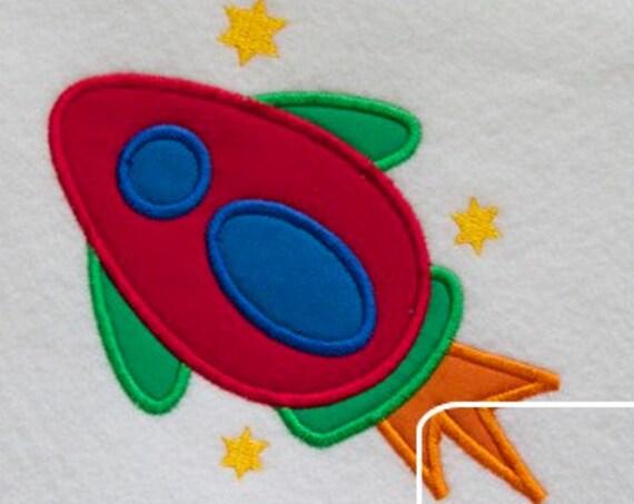 Space Rocket 4 Appliqué embroidery Design - space man appliqué design - space appliqué design - astronaut appliqué design