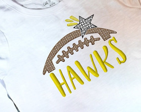 Hawks Football Embroidery Design - Football Embroidery Design - Hawks Embroidery Design - Mascot Embroidery Design - Team Embroidery Design