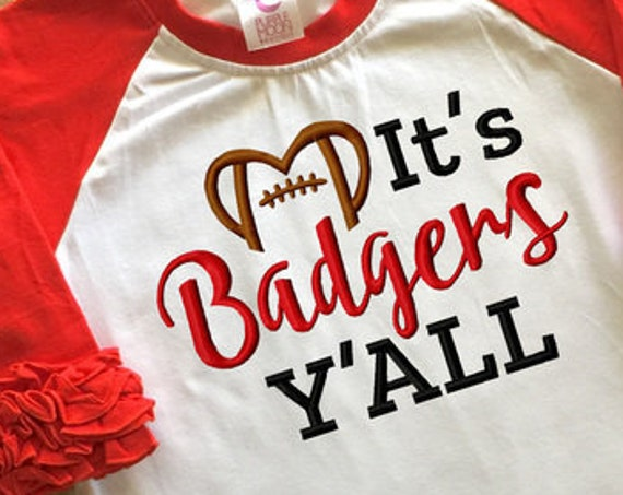 It's Badgers y'all football embroidery design - Badgers embroidery design - football embroidery design - mascot embroidery design - team