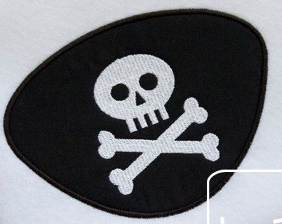 Pirate Eye Patch Appliqué embroidery Design - eye patch Appliqué Design - pirate Applique Design
