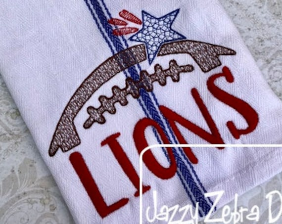 Lions Football Embroidery Design - Football Embroidery Design - Lions Embroidery Design - Mascot Embroidery Design - Team Embroidery Design