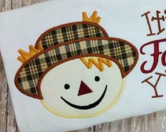 Scarecrow Boy Applique embroidery design - fall Appliqué design - scarecrow Appliqué design - boy Appliqué design