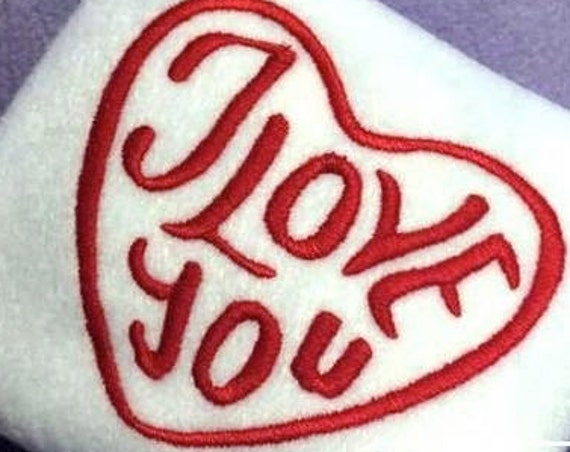 I love You Heart Embroidery Design - Valentines Day Embroidery Design - Valentine Embroidery Design