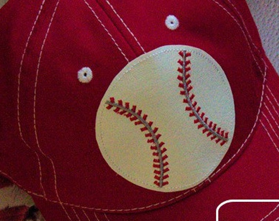 Baseball Raggedy Design or Patch appliqué embroidery design - baseball appliqué design
