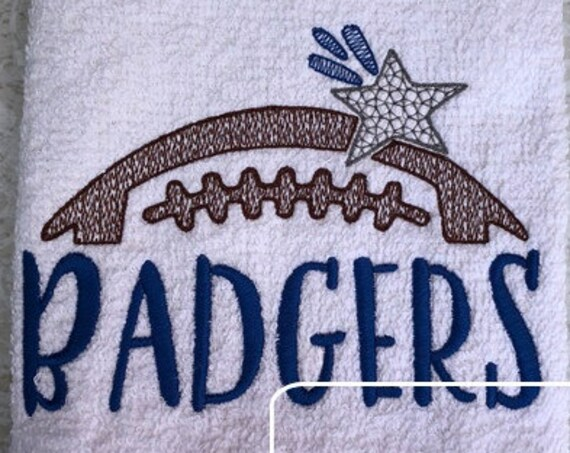 Badgers Football Embroidery Design - Football Embroidery Design - Badgers Embroidery Design - Mascot Embroidery Design - Team Embroidery