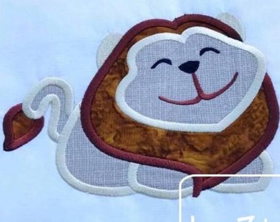 Lion 175 applique embroidery design - lion applique design - zoo appliqué design - circus applique design - safari appliqué design - mascot
