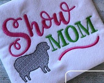 Show Mom saying sheep/lamb machine embroidery design