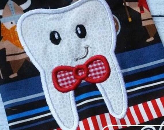 Tooth Boy Face Appliqué embroidery Design - tooth appliqué design - tooth fairy appliqué design - dentist appliqué design - boy applique
