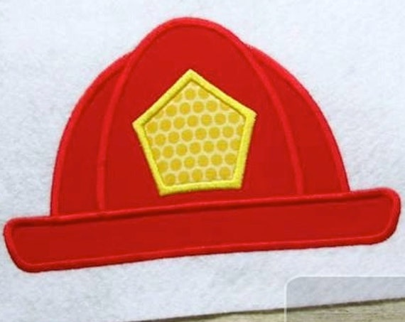 Firefighter Hat Appliqué embroidery Design - hat Appliqué Design - fireman Appliqué Design - firefighter Appliqué Design - fire fighter