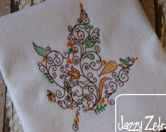 Leaf 42 Embroidery Design - fall Embroidery Design - leaf Embroidery Design