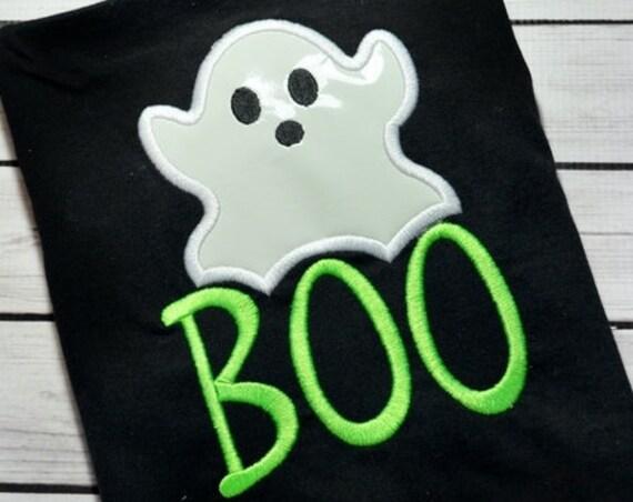 Boo Ghost applique design - ghost applique design - boo embroidery design - Halloween applique design - ghoul applique design - ghost design