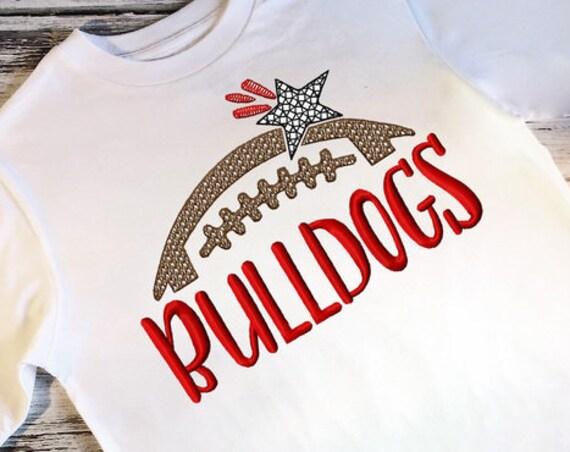 Bulldogs Football Embroidery Design - Football Embroidery Design - Bulldogs Embroidery Design - Mascot Embroidery Design - Team Embroidery