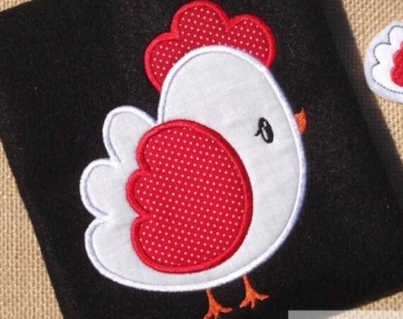 Chicken 35 Applique embroidery Design - chicken Applique Design - hen Applique Design - farm Applique Design